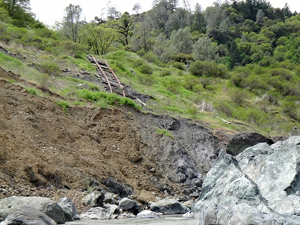 This is what the NCRA line looks like in Humboldt County.