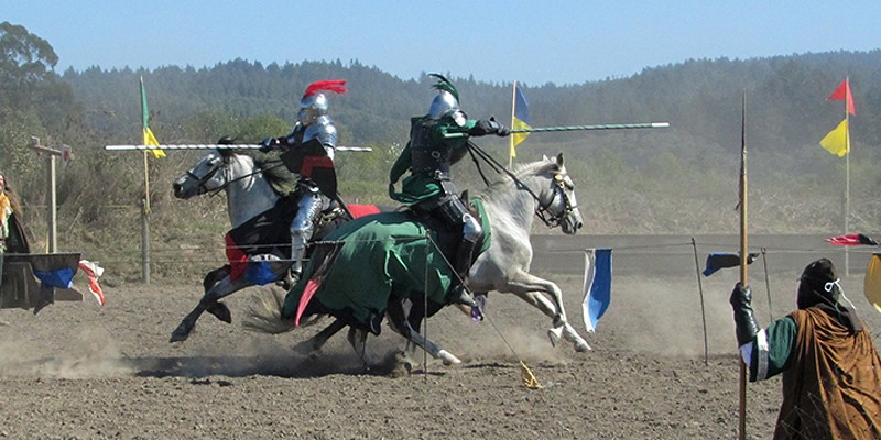 Going Medieval This year the American Jousting Alliance will throw down the gauntlet. Photo by Laura Dodd