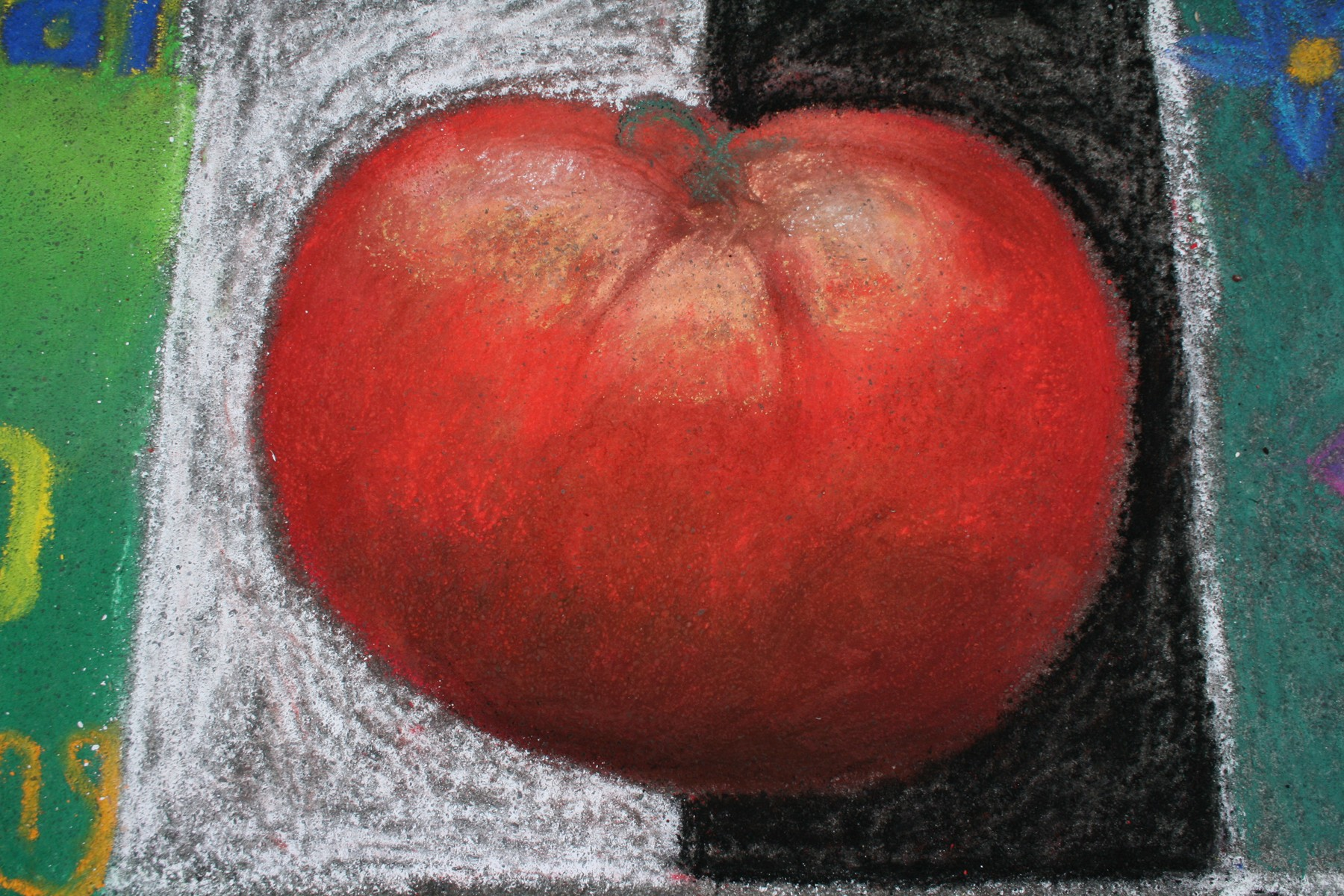 Tomato, Pastels on the Plaza 2010 - CHALK DRAWING BY AMY DORAN