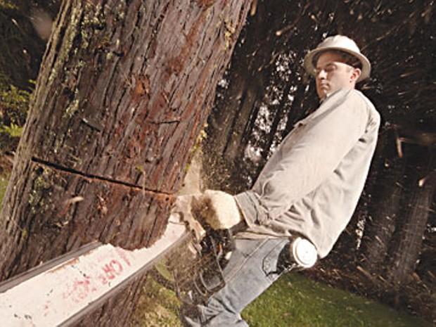 Tree faller Dan DeArmond. Photo by Nels Israelson