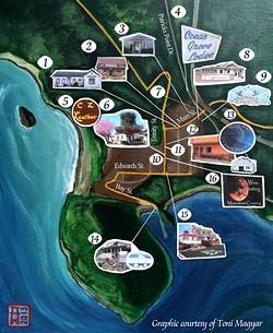 Trinidad Arts Night map