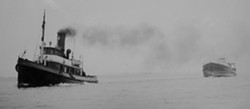 COURTESY OF THE HUMBOLDT MARITIME MUSEUM. - Tug Humboldt. The wooden-hull Humboldt was launched on the Columbia River in 1899 as the Walla Walla. She saw service on the bay from 1923 to 1934, and was scrapped in 1946. (Thanks to Leroy Zerlang for research.)