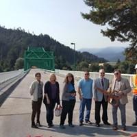 Bridge Linking Scotia and Rio Dell Reopens