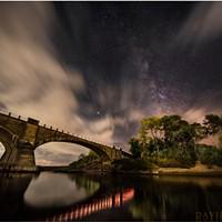 North Coast Night LIghts: Fernbridge Beneath the Milky Way