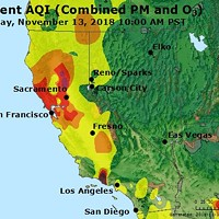 Wildfire Smoke Impacting Local Air Quality