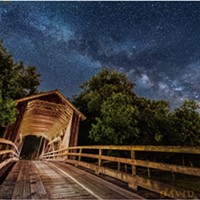 North Coast Night Lights:The Covered Bridge of Elk River