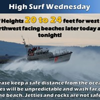 High Surf Continues, High Tides Later This Week