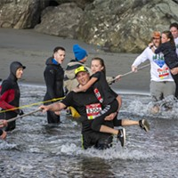 Splash and Dash: Photos from the Clam Beach Run