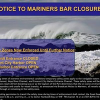 UPDATE: Coast Guard Closes Harbor Entrance Due to High Surf, Winter Weather Continues (Video)