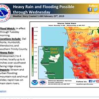 With Wet Week Ahead, Flood Warnings Issued