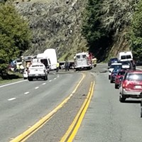 UPDATE: Highway 101 Open to Controlled Traffic After Crash