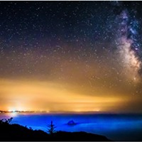 North Coast Night Lights: Smoky Coastal Skies and Milky Way