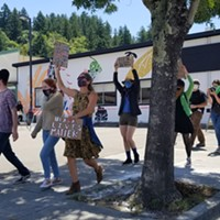 Student Activists Lead Peaceful Protest in Garberville