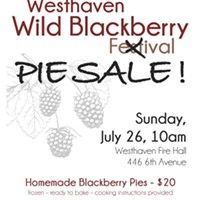 Westhaven's Blackberry Pie Fire Sale