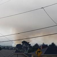 Fire Burning on the Samoa Peninsula