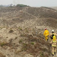 Dune Fire South of Manila