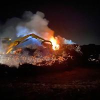UPDATE: Slash Pile Fire Burning in Arcata