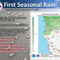 First Rain of the Season Comes Tonight