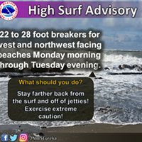 UPDATE: High Surf Advisory Issued for the North Coast