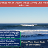 NWS Issues Sneaker Wave Warning