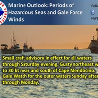 Blustery Seas Over the Weekend, Gale Watch Starting Sunday