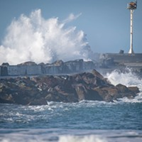 Large Breaking Waves to Hit Local Beaches