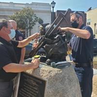 UPDATE: Firefighter Memorial on Clarke Plaza Restored