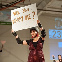 A Councilwoman Proposes at the Derby Bout