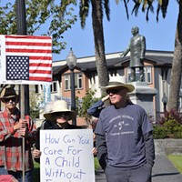 Dozens Turn Out to Protest Child Detention Immigration Policies