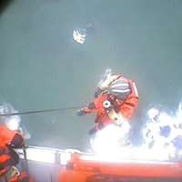 Coasties Rescue Stranded Hiker Near Klamath River (Video)