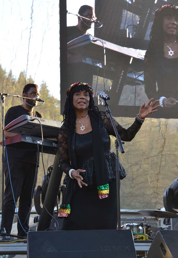 A vocalist took the stage during Israel Vibration's set. - PHOTO BY ERICA BOTKIN