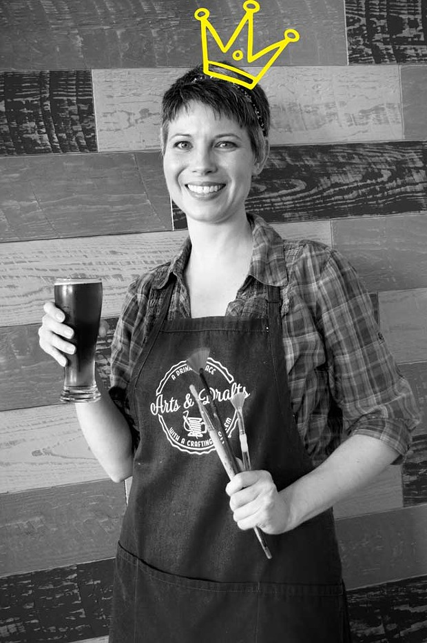 Co-Owner Tracy Dorgan shows what's on offer at Arts and Drafts. - AMY WALDRIP.