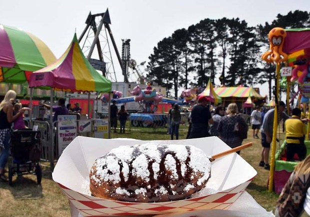 A deep fried Twinkie with enough powdered sugar to make Scarface sneeze. - PHOTO BY JENNIFER FUMIKO CAHILL
