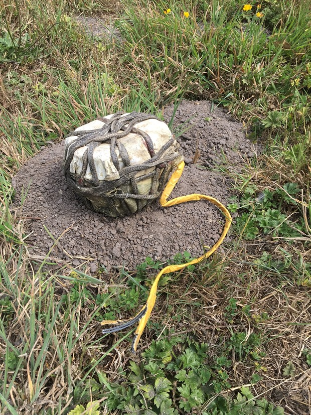 This homemade explosive device was found in a McKinleyville field. - HCSO