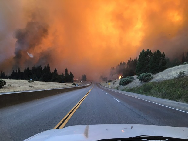 A shot of the Delta Fire on Sept. 5. - CALTRANS DISTRICT 2