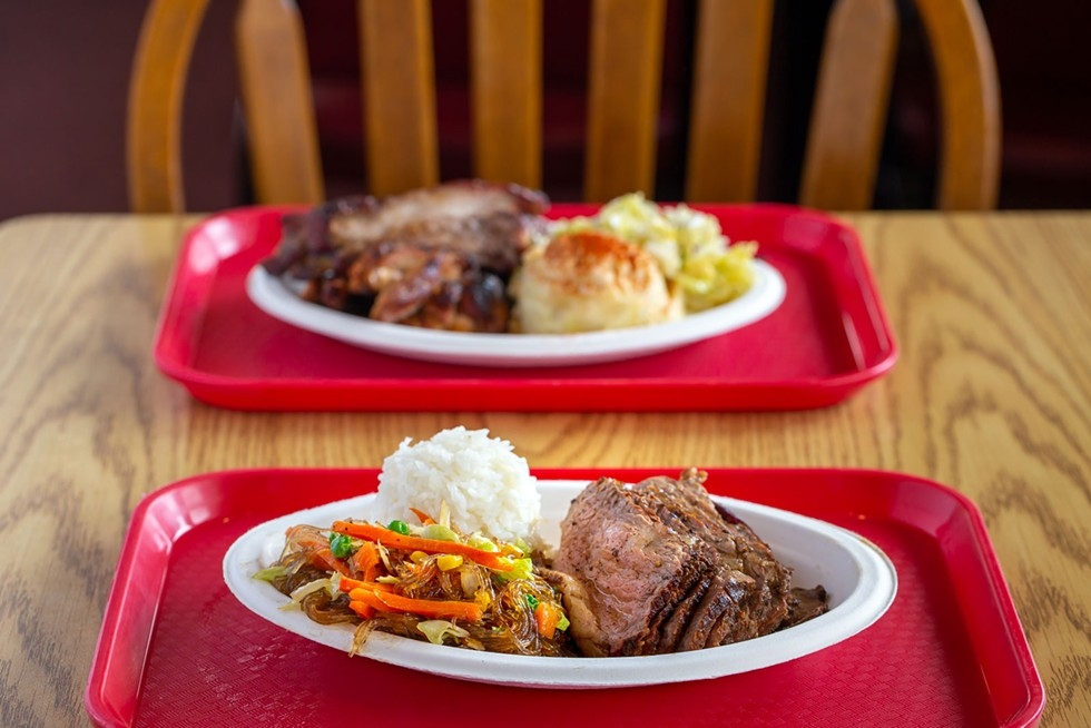 Tri-tip with chop suey and rice. - AMY KUMLER