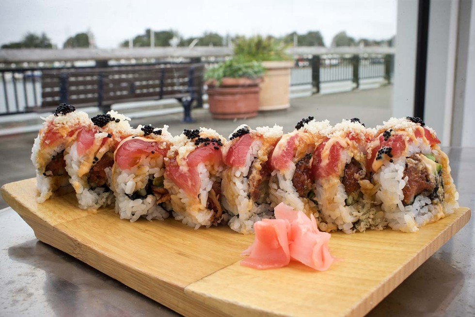 The dizzying kaleidoscope roll at Bayfront Restaurant. - PHOTO BY ROCKY ARROYO