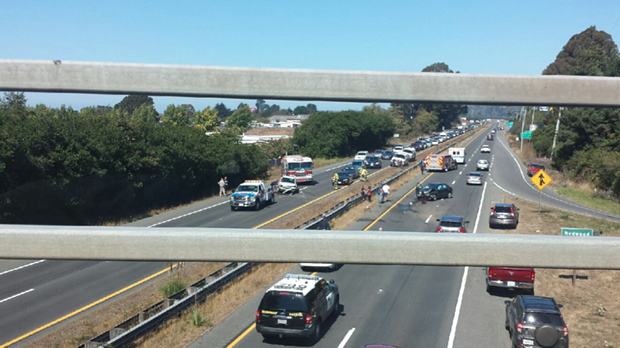 A multi-vehicle crash has disrupted traffic on U.S. Highway 101 near State Route 299. - PHOTO COURTESY OF  MARK NELSON
