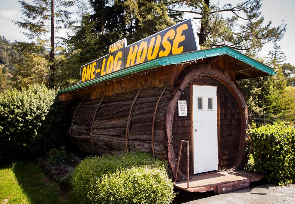 The One-Log House, just off of U.S. Highway 101. - AMY KUMLER