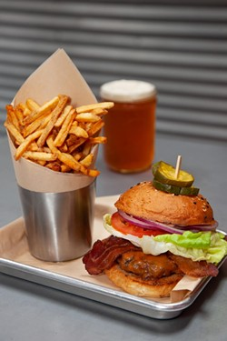 The Classic with crispy fries and a nice, cold beer. - AMY KUMLER