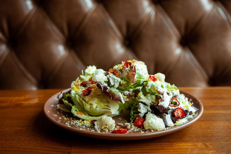 The decadent Wedge Salad. - AMY KUMLER  STYLING BY LYNN LEISHMAN