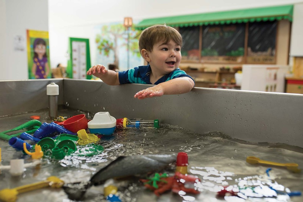 Water play at children's Discovery Museum. - DREW HYLAND