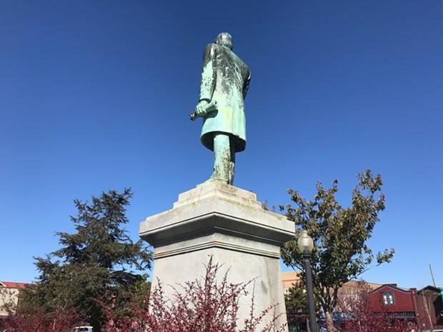 The backside of the McKinley statue. - MARK MCKENNA