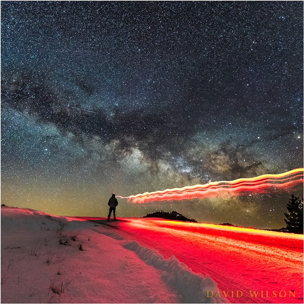 Self-Portrait: Playing with light beneath the Galactic Core.