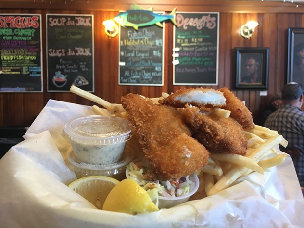 The Scrimshaw's catch at Arcata Pizza and Deli. - PHOTO BY JENNIFER FUMIKO CAHILL