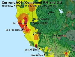 Smoke impacts in California. - AIRNOW