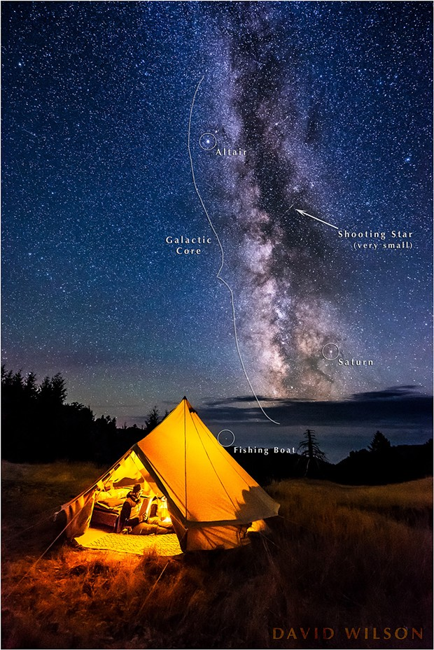 We were in paradise. The sky blazed overhead with stars, galaxies and flashing meteors, fishing boats scurried along the horizon, wildlife prowled about … but a good book is a good book! - DAVID WILSON