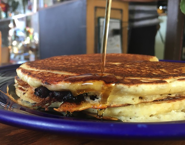 Brie and blueberry pancakes, where have you been all my life? - PHOTO BY JENNIFER FUMIKO CAHILL