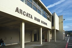 Arcata High School was placed on lockdown today. - FILE PHOTO