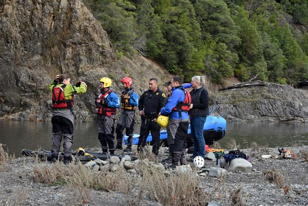 The SHCTR team works with the Mendocino County Sheriff's Office on the details for recovering the body. - TALIA ROSE